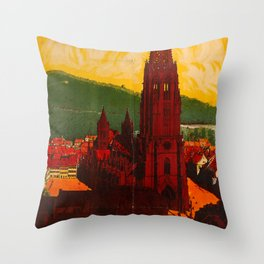 Freiburg im Breisgau Travel Poster Throw Pillow