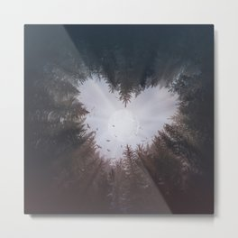 forest nature heart Metal Print
