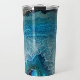 Blue agate, Marble, Faux Druse, Crystal, Quartz, Gem, Gemstone, Travel Mug