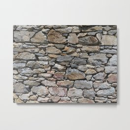 Stone wall of ghost town Metal Print