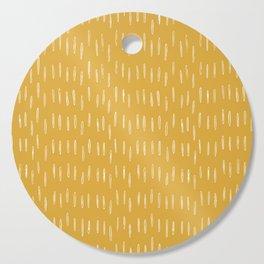 Raindrop Abstract Boho Pattern, Yellow Cutting Board