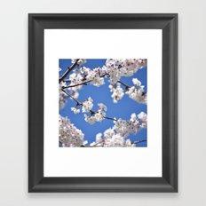 Within the Blue Framed Art Print