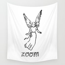 Angel of Zoom Wall Tapestry