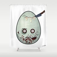 zombies Shower Curtains featuring Zombies by Marcos Lozano