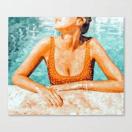 Mi Bebida Por Favor #painting #summer Canvas Print