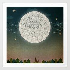 Light up the moon Art Print