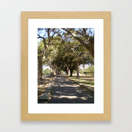 ROUND THE BEND Framed Art Print