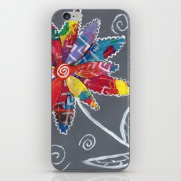 Boho Flower by Deborah Halcomb aka Daytona Damsel iPhone Skin
