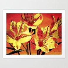 Day lilies  Art Print
