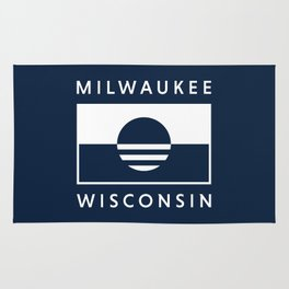 Milwaukee Wisconsin - Navy - People's Flag of Milwaukee Rug