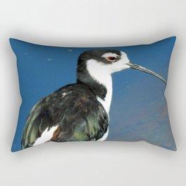 Juvenile Black Necked Stilt Rectangular Pillow
