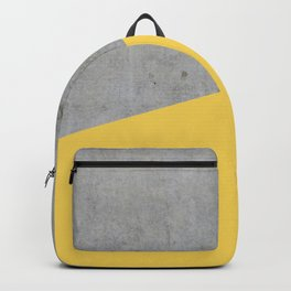 Concrete and Primrose Yellow Color Backpack