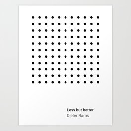 Dieter Rams Less But Better (b) Art Print