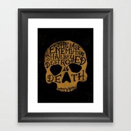 Last Enemy Framed Art Print