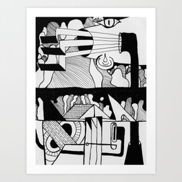 The Murmurs of the Voyeurs Have Overpowered the Chirping of the Crickets Art Print