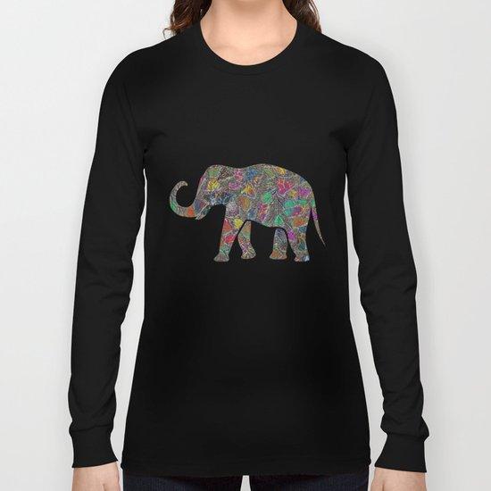 Animal Mosaic - The Elephant Long Sleeve T-shirt