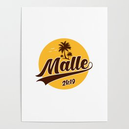 Malle Mallorca Palma Drink Beer Poster
