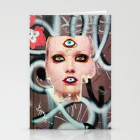 shiva Stationery Cards featuring shiva by Juliya Lezhen