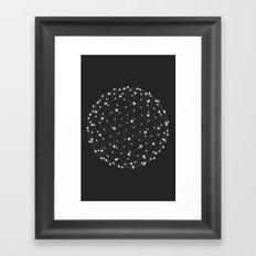 String Sphere Framed Art Print
