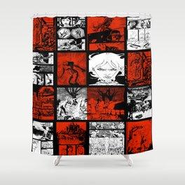 RED & WHITE - A nne Frankenstein Book I - Resurrection Shower Curtain