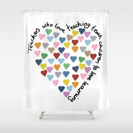 Hearts Heart Teacher Shower Curtain