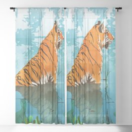 Tiger Creek Sheer Curtain