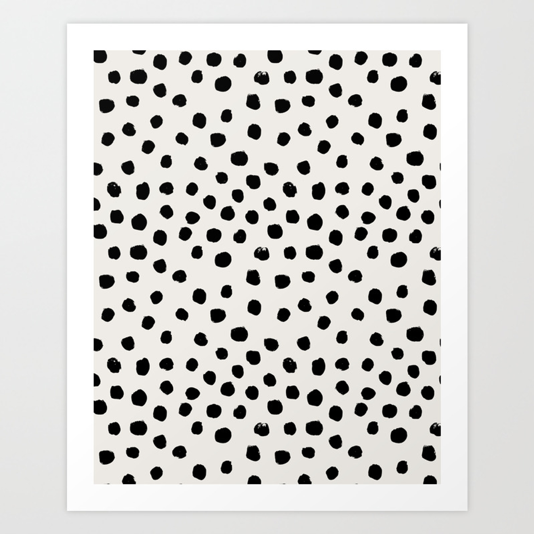 Abstract and black white art prints society6 for Dots design apartment 8