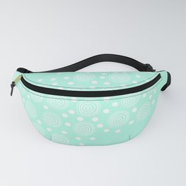 Circles in Circles on Pastel Teal Fanny Pack