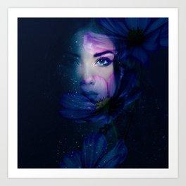 Stars flower Art Print