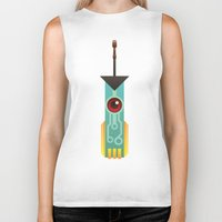 transistor Biker Tanks featuring The Transistor by Liam Ball