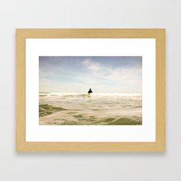 SURF: Waiting Framed Art Print