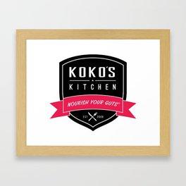 Koko's Kitchen - Nourish Your Guts Framed Art Print