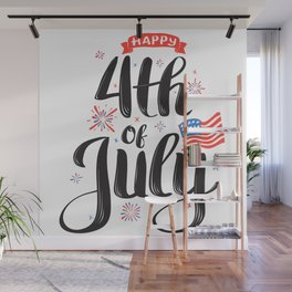 Happy 4th of July Celebration Wall Mural