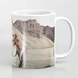 Rustic Horse Photograph in Mountains Coffee Mug