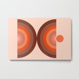 Abstraction_SUN_Rainbow_Minimalism_002 Metal Print