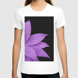 Agave Finesse #10 - Purple on Black #tropical #decor #art #society6 T-shirt