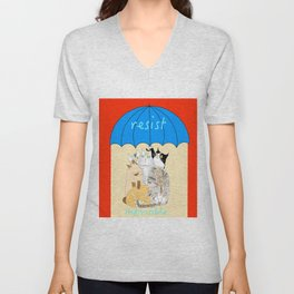 resist. indivisible Unisex V-Neck