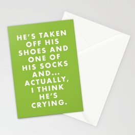 The Royal Tenenbaums - He's taken off his shoes and one of his socks and... actually... Stationery Cards