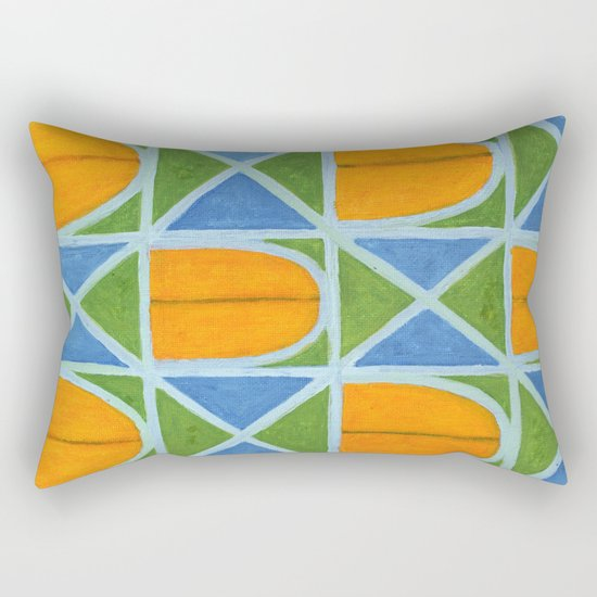 Lighted Arched Windows Pattern Rectangular Pillow
