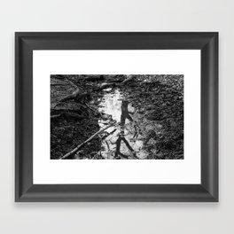 Mud/Reflection Framed Art Print