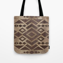 Ethnic Geometric Wooden texture pattern Tote Bag