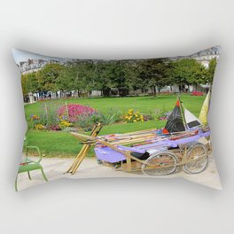 Tuileries Garden Boat Rental Rectangular Pillow
