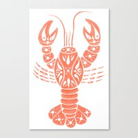 lobster Canvas Prints featuring Lobster by NoelleGobbi