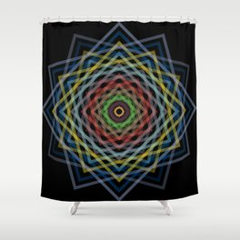 Colorful Geometric Pattern V Shower Curtain
