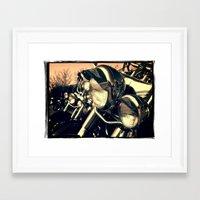 harley Framed Art Prints featuring 'Harley' by Janet Grainger