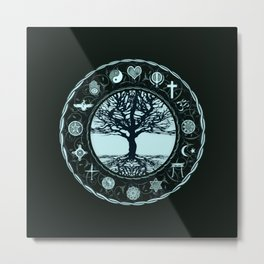 World Religions Tree of Life Metal Print