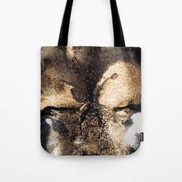 Black and gold abstract ink Tote Bag