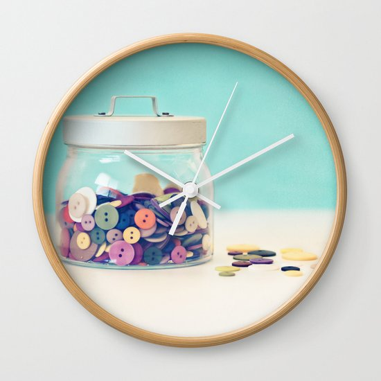 Where's Baby's Button? Wall Clock