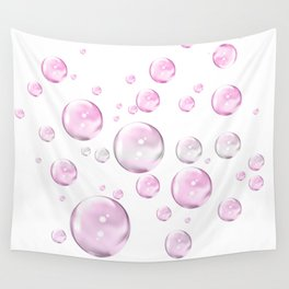 Pretty Pink Bubbles Wall Tapestry
