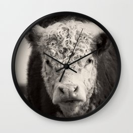 How Now Brown Cow Square Format Wall Clock